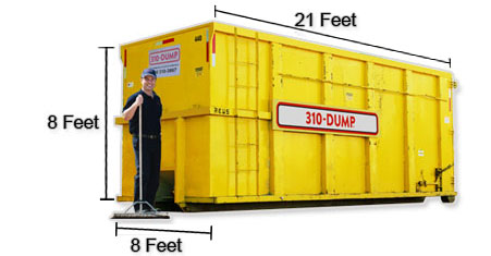 40 Yard Roll-Off Dumpster Bin